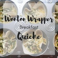 Wonton Wrapper Breakfast Quiche