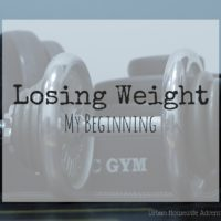 Losing Weight: My Beginning